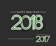 Text-Design des guten Rutsch ins Neue Jahr-2018 - 2017 Lizenzfreie Stockbilder