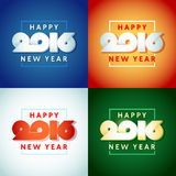 Text design of happy new year 2016. Beautiful text design of happy new year 2016 on bright background Stock Image
