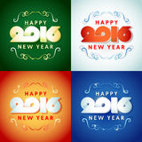 Text design of happy new year 2016. Beautiful text design of happy new year 2016 on bright background Royalty Free Stock Photo