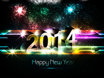 2014 text design Happy new year. Bright colorful Vector Illustration