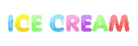 Text Design ICE CREAM Stock Photos