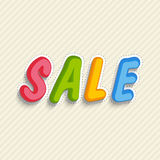 Text design of Sale. Stock Photos