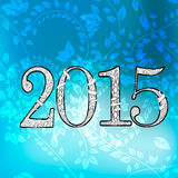 2015 Text Design. Vector illustration of 2015 Text Design Royalty Free Stock Images