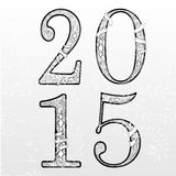 Text Design. Vector illustration of Happy new year 2015 Text Design Royalty Free Stock Photography