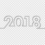 Text-Design-Vektorillustration des guten Rutsch ins Neue Jahr-2018 Lizenzfreie Stockbilder