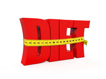 Text Diet with Measurement Tape Stock Images