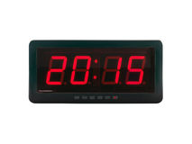 2015 text on the digital clock face isolated on white background, Ideas About Time Royalty Free Stock Images