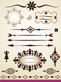 Text dividers, frames, border and decorations Stock Photo