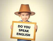 Text do you speak english. Stock Photos