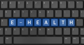 Text e-health Royalty Free Stock Image