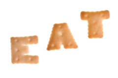 Text EAT from cookies Stock Photography