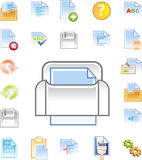 Text editor icons set 1 royalty free stock image