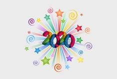 Text-Effekt png des guten Rutsch ins Neue Jahr-2020 stockbild