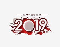 Text-Entwurfs-Rüttler des guten Rutsch ins Neue Jahr-2019 vektor abbildung