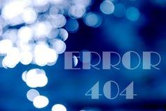 text error 404 on a blue bokeh royalty free illustration