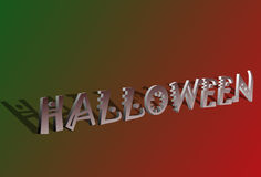 text för 3d halloween Royaltyfri Foto