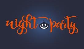 Text för allhelgonaaftonnattparti Kalligrafi som märker design Typografi för hälsningkort, affischer, baner Vektorillustrationwi vektor illustrationer