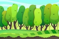 text för avstånd för illustration för bakgrundstecknad filmdesign Forest Game design stock illustrationer