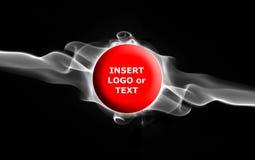 text för banerflammarök vektor illustrationer