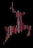 text för berömjul info Royaltyfri Fotografi