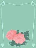 text för blommaramavstånd Royaltyfria Foton