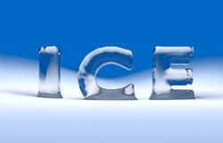text för is 3D Fotografering för Bildbyråer