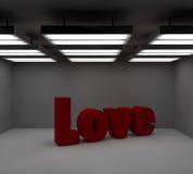 text för förälskelse 3d Royaltyfri Bild