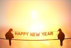 Text för ` för lyckligt nytt år för ` på pastellfärgad bakgrund Arkivbild