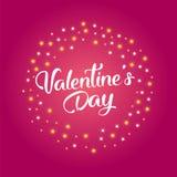 Text för försäljning för dag för valentin` s med gåvan Fotografering för Bildbyråer