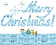 Text för glad jul Hand dragen text Vattenfärgjulbakgrund stock illustrationer