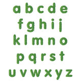 Text för liten bokstav av grönt gräs stock illustrationer