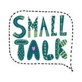Text för litet samtal Märka i en anförandebubbla vektor illustrationer