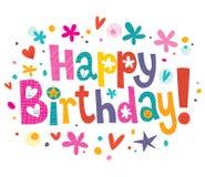 Text för lycklig födelsedag Fotografering för Bildbyråer