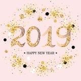 2019 text för lyckligt nytt år stock illustrationer