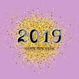 2019 text för lyckligt nytt år vektor illustrationer