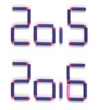 2016 text för lyckligt nytt år Arkivbilder