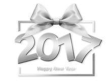 2017 text för lyckligt nytt år Fotografering för Bildbyråer