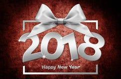 2018 text för lyckligt nytt år för ditt reklamblad och hälsningskort ID Arkivbilder
