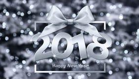 2018 text för lyckligt nytt år för ditt reklamblad och hälsningskort ID Arkivfoton