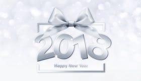 2018 text för lyckligt nytt år för ditt reklamblad och hälsningskort ID Royaltyfri Bild