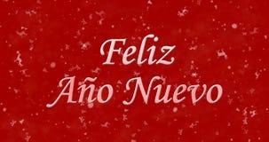 Text för lyckligt nytt år i spanjor royaltyfri fotografi