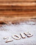 Text för nytt år 2015 Arkivfoton