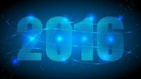 text för nytt år 2016 Royaltyfri Fotografi