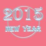 Text för nytt år 2015 på rosa bakgrund Royaltyfria Bilder
