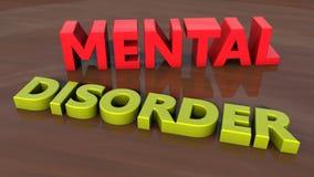 Text för psykisk störning 3d Royaltyfri Bild