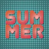Text för sommarjordgubbeeffekt Arkivbilder