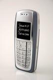 text för telefon för meddelande för cellmobiltelefon im Arkivfoto