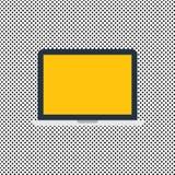Text för utrymme för kopia för mall för designaffärsidé tom för för bärbar datorbildskärm för annons website isolerad apparat för stock illustrationer