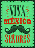Text för Viva Mexico Senores - Viva Mexico gentlemanspanjor Arkivbild