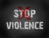Text für Endgewalttätigkeit auf Schmutzhintergrund Lizenzfreie Stockfotos